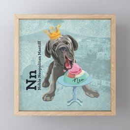 NEO (neopolitan mastiff) Framed Mini Art Print