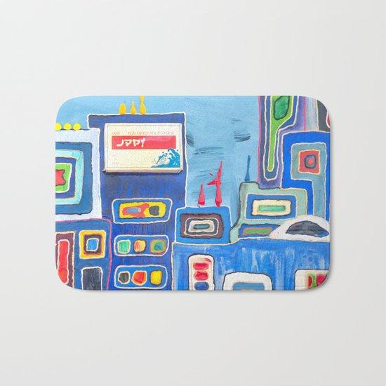 Urban Colorful City Bath Mat