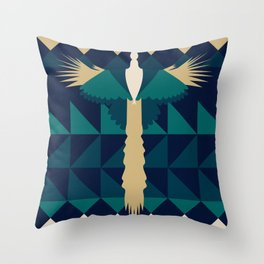 Aztec Peacock Throw Pillow