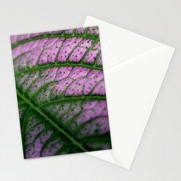 Violet Leaf Stationery Cards