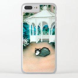 Gazebo Cat Clear iPhone Case