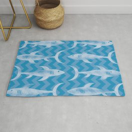 Sharks in the Water Rug