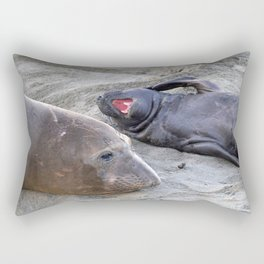Elephant Seal Mother and Baby Rectangular Pillow