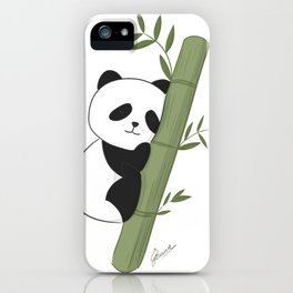 Sleeping panda iPhone Case