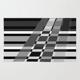 Black and white abstract pattern . The slant line 1. Rug