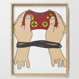Best Trending Gaming Tshirt Design Gamers Hand Serving Tray