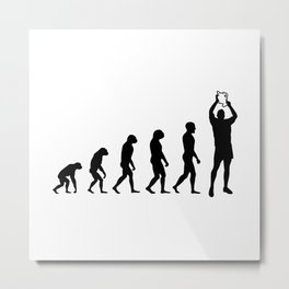 Evolution Rugby #3 - Win Metal Print