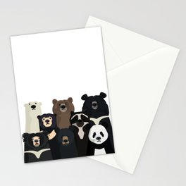 Bear family portrait Stationery Cards