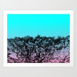 Black Water Horizon Art Print