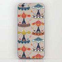 damask iPhone & iPod Skins featuring carousel damask by Sharon Turner