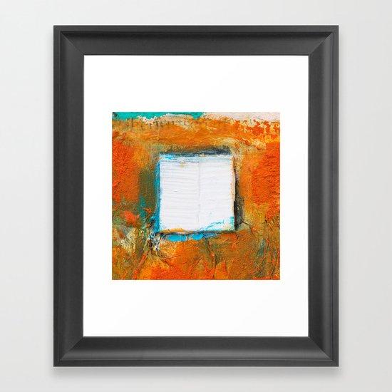 OPUS VARIAE II - Abstract mixed-media painting Framed Art Print