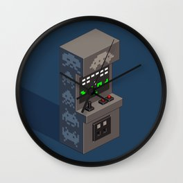 SpaceInvaders arcade cabinet Wall Clock