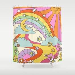 retro hippie boho print  Shower Curtain