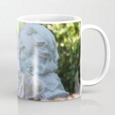 Dreaming angel in the garden Mug