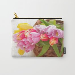 Tulip in a basket Carry-All Pouch