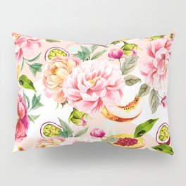 Pattern flowers and tropical fruits Pillow Sham