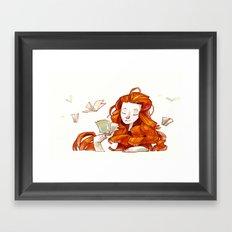 Red hair muse Framed Art Print