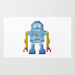 Blue pixel robot #1 Rug