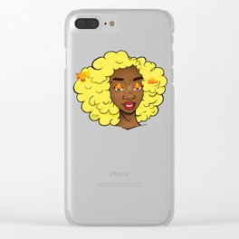 Edda Powerful Black Girl Magic * Clear iPhone Case