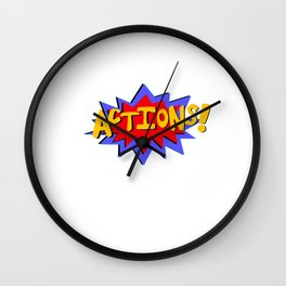 Actions! Wall Clock