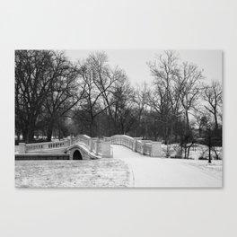 Winter Solitude - St. Louis Snowy Bridge Canvas Print
