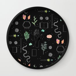 Witch Starter Kit: Potion - Illustration Wall Clock