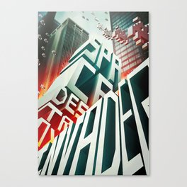 Invaders in the city Canvas Print