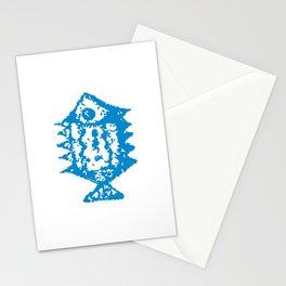 Fish blue pattern Stationery Cards