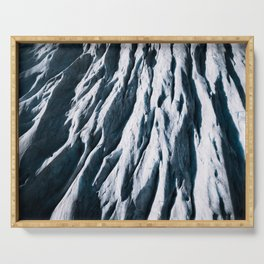 Arctic Glacial Pattern from above - Landscape Photography Serving Tray