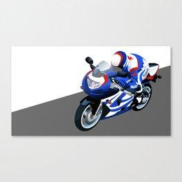 Suzuki motorcycle Canvas Print