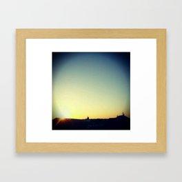 Monorail at Sunset Framed Art Print
