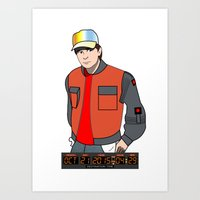 mcfly Art Prints featuring Marty McFly by Pendientera