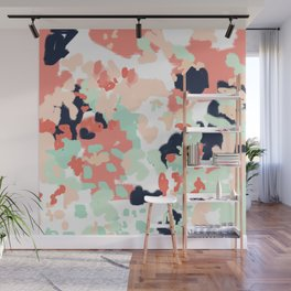 Suma - abstract gender neutral trendy home office nursery decor painting Wall Mural
