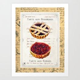Pastries-Tartes Art Print