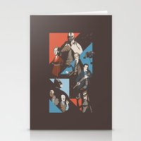 pain Stationery Cards featuring Pain by Florey