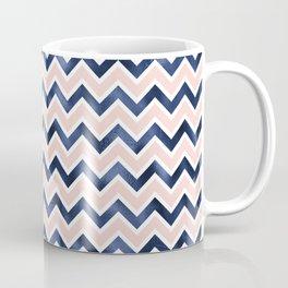 Pink and Navy Blue Chevron Coffee Mug