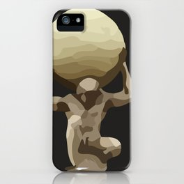 Man with Big Ball Illustration dark grey iPhone Case