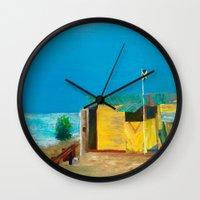 jamaica Wall Clocks featuring Jamaica. Jamaican Blues by ANoelleJay