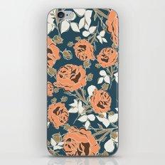 Black Rose Minimalist Pattern iPhone Skin
