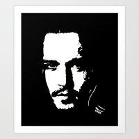 johnny depp Art Prints featuring Johnny Depp by Kunooz