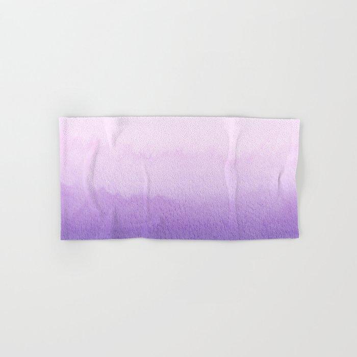 Purple Watercolor Design Hand & Bath Towel