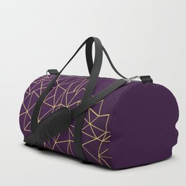 Ultra Purple Geo Duffle Bag
