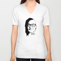 murray V-neck T-shirts featuring Skrill Murray by Ludwig Van Bacon