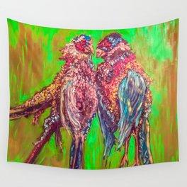 """""""Love Birds"""" Wall Tapestry"""