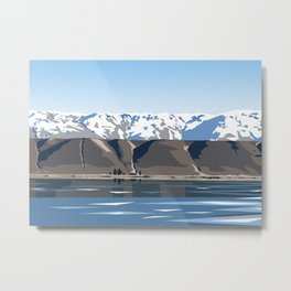 Lake Dunstan, Central Otago, New Zealand Metal Print