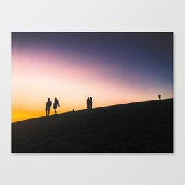 Sunset on a Hill Canvas Print