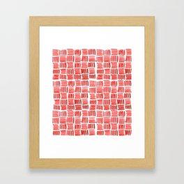 Red Parquet Framed Art Print