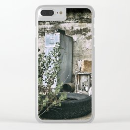 Vintage Trash Clear iPhone Case