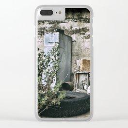 Vintage Trash Clear iPhone Case
