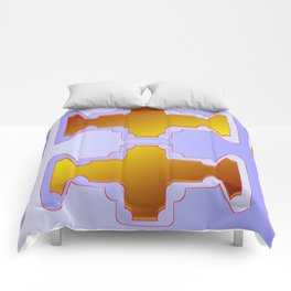 Copper plates pattern Comforters